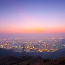 Hong Kong sunset in winter by kawing921