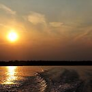 Sunset, Shimmer And Wake by Debbie Oppermann