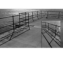 a barrier to a shining sea ~ diptych Photographic Print