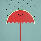 Watermelon Umbrella by filiskun