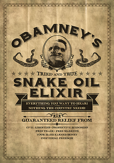 Obamney's Tried and True Snake Oil Elixir by M Dean Jones