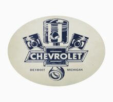 Chevrolet Pistons Logo - Sticker by No17Apparel