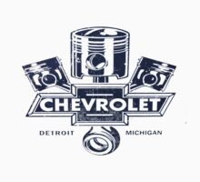 Classic Piston Logo Chevrolet Light Colours by No17Apparel