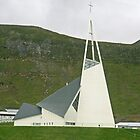 Olafsvík Church, Triangle church in the Snæfellsnes peninsula Iceland. by Grace Johnson