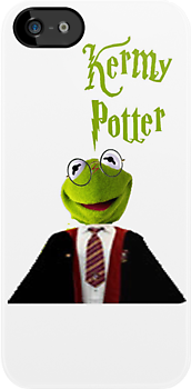 Kermy Potter iphone case by rachick123