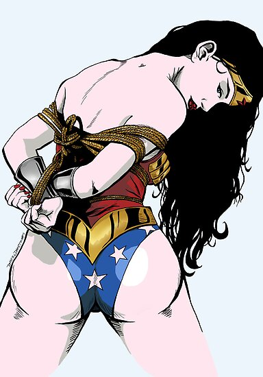 Wonder Woman All Tied Up by SeventhTowerART