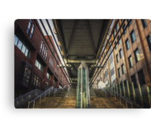 Under the Millennium Bridge London Canvas Print