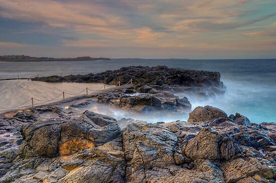 Late Afternoon at Kiama. by Julie  White
