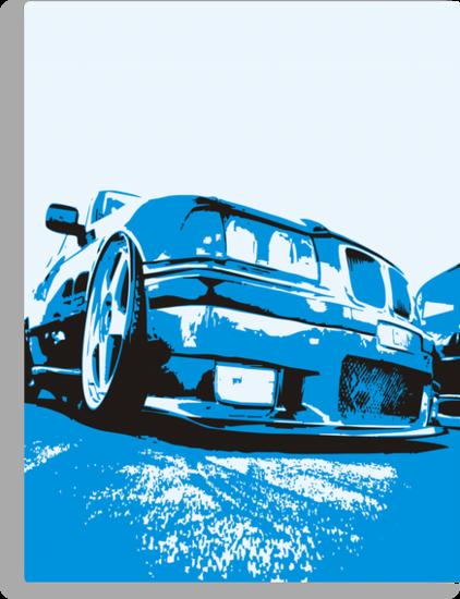 Pop art BMW E36 by GKuzmanov
