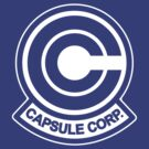Capsule Corp Logo white by karlangas