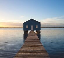 River Boatshed by Mark McClare