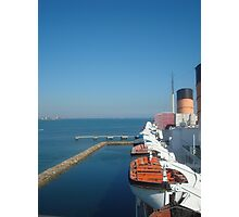 Queen Mary view from ship Photographic Print