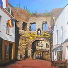 Grendelpoort, Valkenburg Holland C 1300 by Jsimone