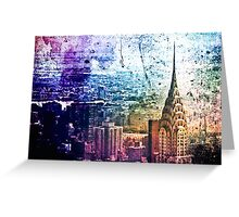 Chrysler Building - Paint Splotches - New York City -  Greeting Card