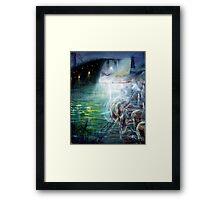 Ghost Ship Center Framed Print