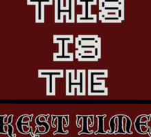 8 Bit Darkest Timeline Sticker