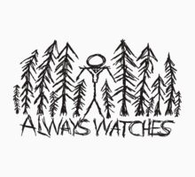 "White ""Always Watches"" Slenderman T-Shirt by Margrave16"