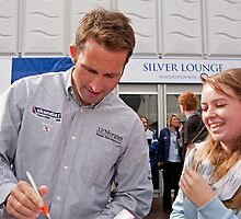 Ben Ainslie autograph signing at the PSP Southampton boat show 2012 by Keith Larby