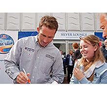 Ben Ainslie autograph signing at the PSP Southampton boat show 2012 Photographic Print