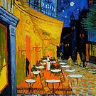 Cafe Terrace at Night by IntWanderer
