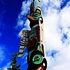 Native Totem Pole In Ketchikan, Alaska by NSauer01