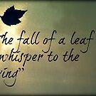 The Fall Of A Leaf by AngieBanta