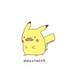 Pikachu Moustache iPod/iPhone Case  by iPinkly