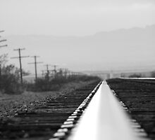 B&W on the rail by fireangelsphoto