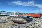 Historical Forts of Nassau: The remains of Bladen's Battery at Potter's Cay - Nassau, The Bahamas by 242Digital