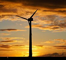 Windmill At Sunrise by Moonlake