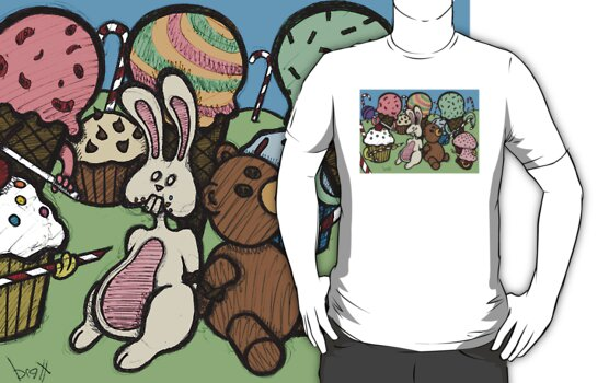 Teddy Bear And Bunny - Caught In The Act by Brett Gilbert