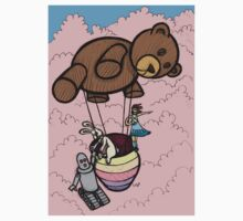Teddy Bear And Bunny - Cotton Candy Clouds T-Shirt