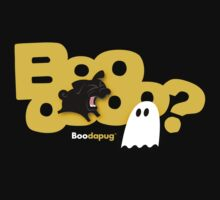 Black Pug BARKING Boo! by boodapug