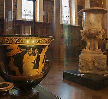 Greek vases in The Enlightenment Room, The British Museum by Sparklerpix