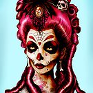 Day of the Dead &#x27;Pink Death&#x27; Art Print  by ScreamingDemons