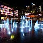 Fountains of Darling Harbour by MiImages