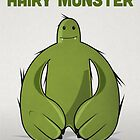 "Big Green Monster - ""Happy Birthday Hairy Monster"" by David Wildish"