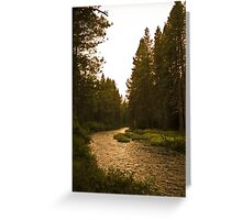river highway Greeting Card