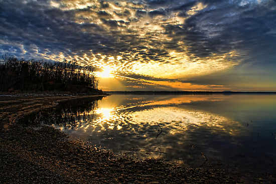 Lakeshore Sunset by Carolyn  Fletcher