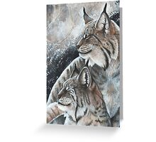 Lynx Pair  Greeting Card