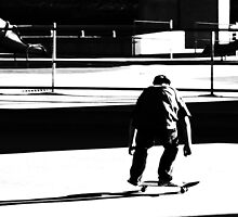 Skater in BW by stevefinn77