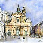Genova, Chiesa del Gesù by Luca Massone  disegni