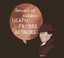 Beware of Death Frisbee by MoonyIsMoony
