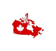 Canada map maple leaf Photographic Print