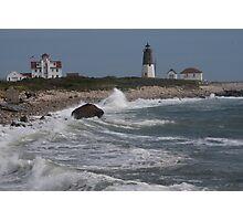 Point Judith Light House and Coast Guard Statiion Photographic Print