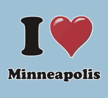I Heart / Love Minneapolis by HighDesign