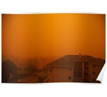 Sandstorm sweeps across houses, Sydney, Australia, 2009 Poster