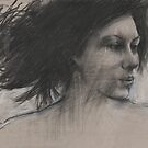 charcoal study for painting by djones