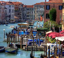 The Busy Grand Canal by Tom Gomez