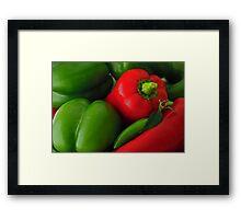 Pepper Harvest Framed Print